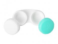 Behälter grün-weiß mit