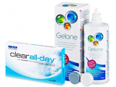 Clear All-Day (6Linsen) + Gelone 360 ml
