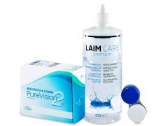 PureVision 2 (6 Linsen) +Laim-Care400ml