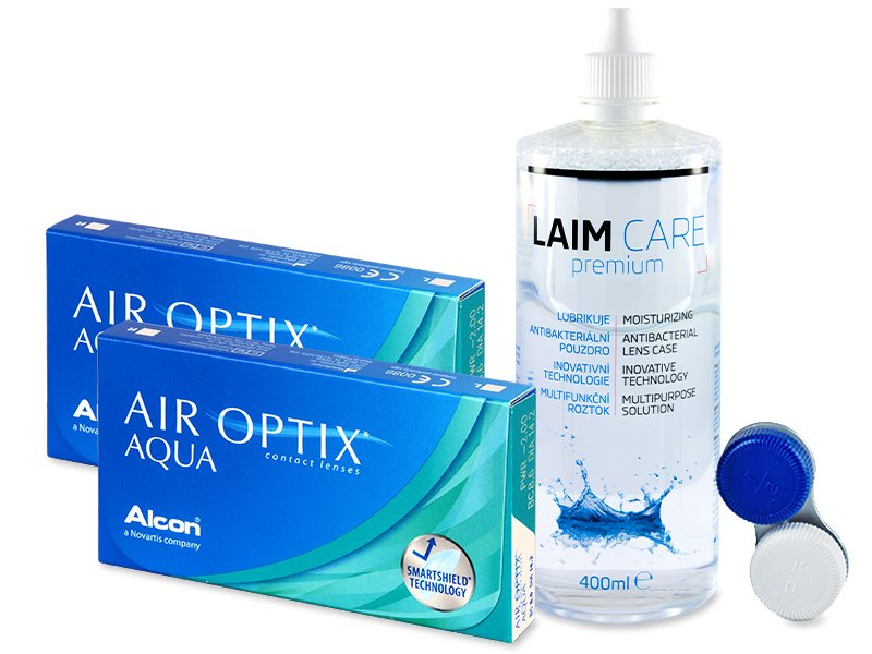 Air Optix Aqua (2x3 Linsen) +  Laim-Care 400ml