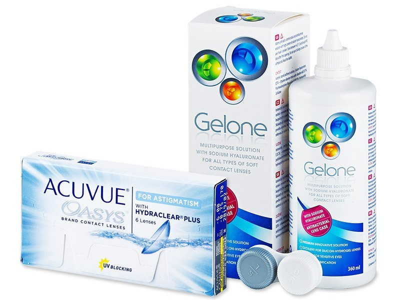Acuvue Oasys for Astigmatism (6 Linsen) +Gelone360ml