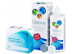 Purevision 2 (6 Linsen) +Gelone360ml