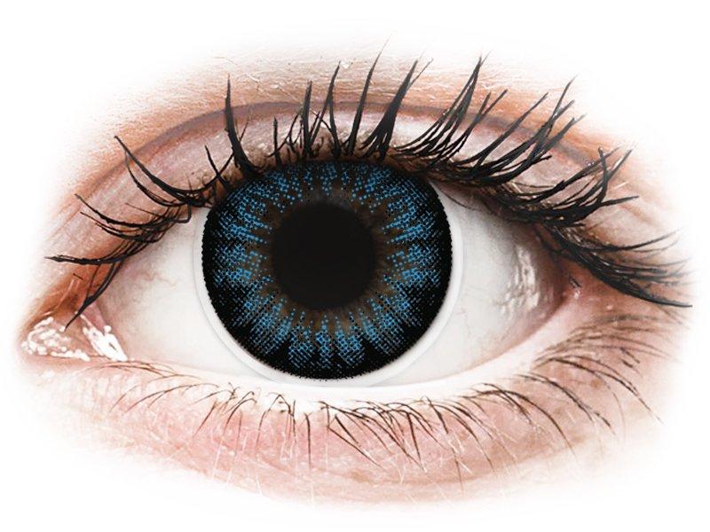 ColourVUE BigEyes Cool Blue - mit Stärke (2Linsen)