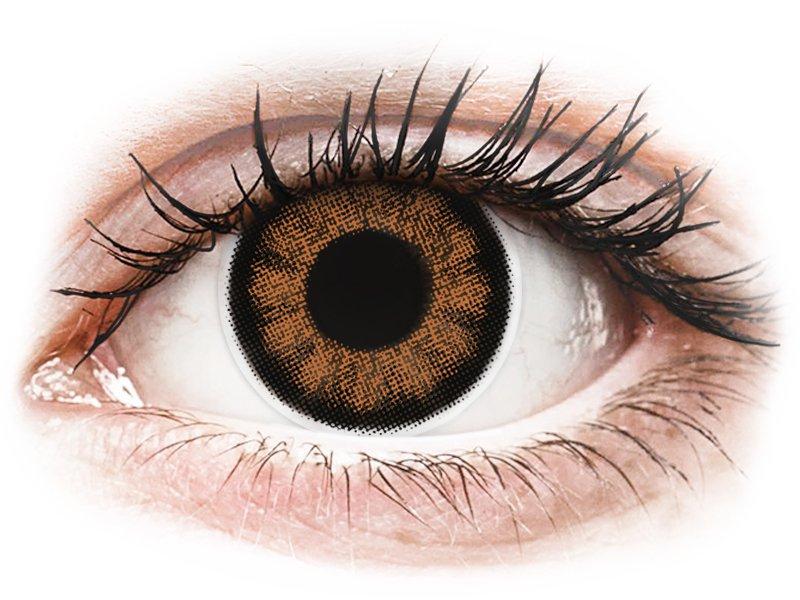 ColourVUE BigEyes Sexy Brown - mit Stärke (2Linsen)