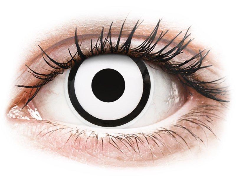 ColourVUE Crazy Lens - White Zombie - Tageslinsen ohne Stärke (2 Linsen)