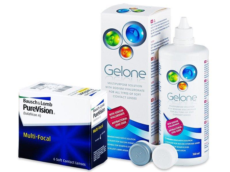 PureVision Multi-Focal (6 Linsen) + Gelone 360 ml