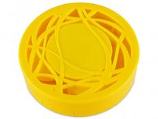 Kontaktlinsen-Etui - Ornament gelb