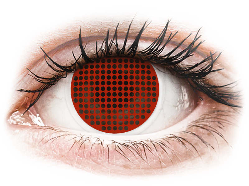 ColourVUE Crazy Lens - Red Screen - ohne Stärke (2 Linsen)