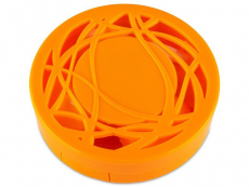 Kontaktlinsen-Etui - Ornament orange
