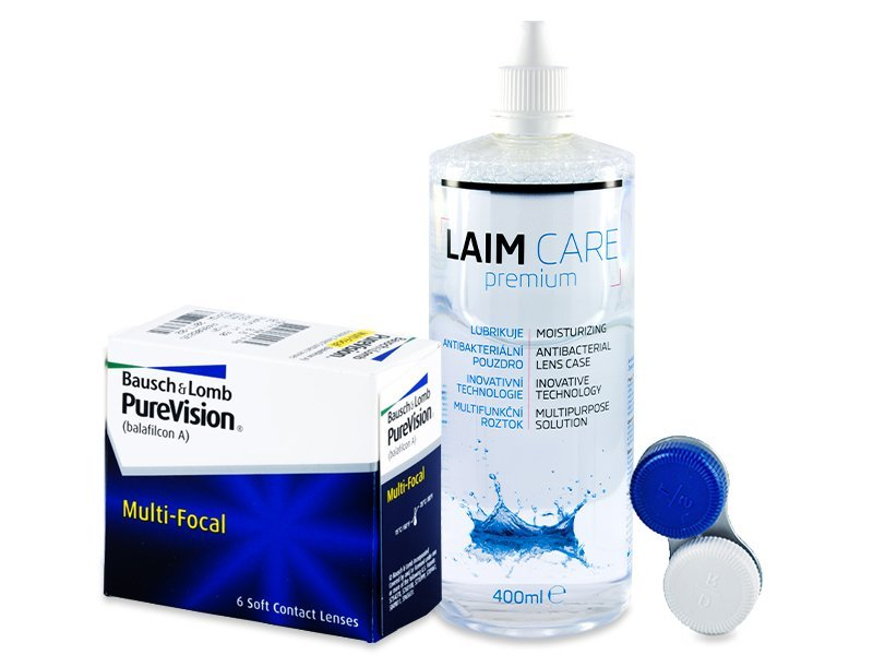 PureVision Multi-Focal (6 Linsen) + Laim-Care 400 ml