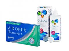 Air Optix plus HydraGlyde for Astigmatism (6 Linsen) + Gelone 360 ml