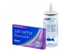 Air Optix plus HydraGlyde Multifocal (3 Linsen) + Laim-Care 400 ml