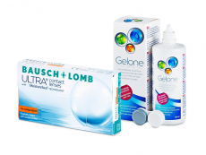 Bausch + Lomb ULTRA for Astigmatism (6 Linsen) + Gelone 360 ml