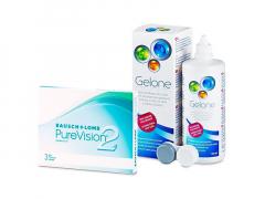 PureVision 2 (3 Linsen) + Gelone 360 ml