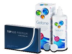 TopVue Premium (6 Linsen) + Gelone 360 ml