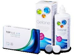 TopVue Air for Astigmatism (3Linsen) +Pflegemittel Gelone 360ml
