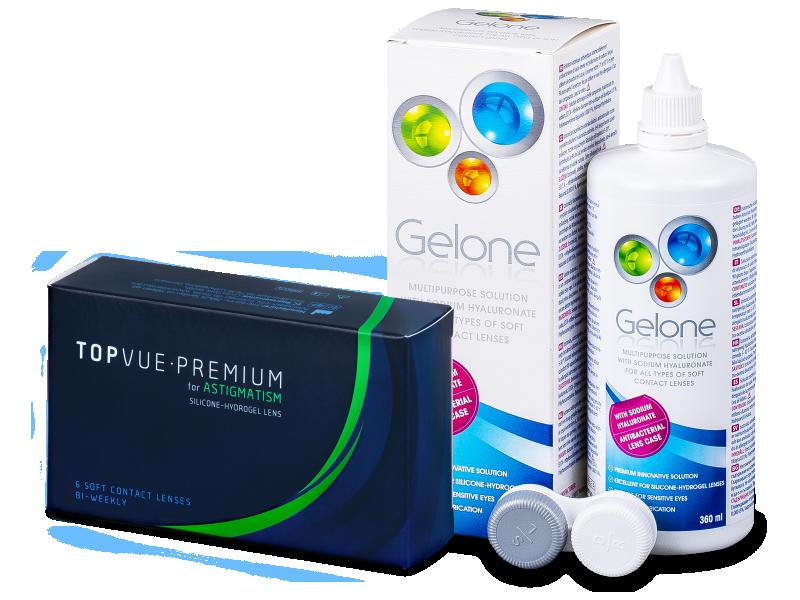 TopVue Premium for Astigmatism (6Linsen) +Gelone 360ml