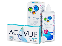 Acuvue Oasys with Transitions (6 Linsen) + Gelone Pflegemittel 360 ml