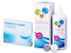 Bausch + Lomb ULTRA for Astigmatism(3 Linsen) + Gelone 360 ml
