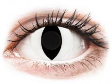 CRAZY LENS - Cat Eye White - Tageslinsen ohne Stärke (2 Linsen)