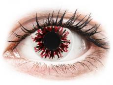 CRAZY LENS - Harlequin Black - Tageslinsen mit Stärke (2 Linsen)