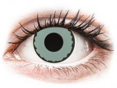 CRAZY LENS - Zombie Virus - Tageslinsen ohne Stärke (2 Linsen)