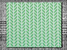 Brillenreinigungstuch - Grün mit weißem Krätenmuster