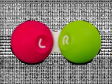 Kontaktlinsenbehälter - pink & grün