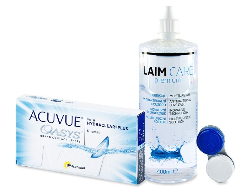 Acuvue Oasys (6 Linsen) + Laim Care 400 ml